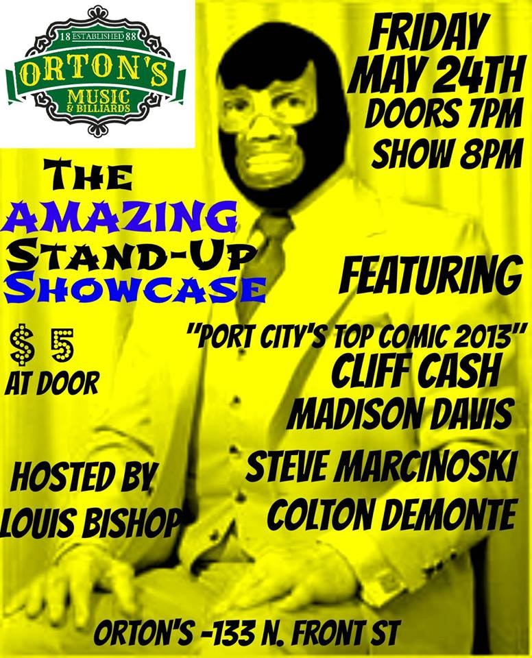The Amazing Stand-Up Showcase! @ Ortons | Wilmington | North Carolina | United States