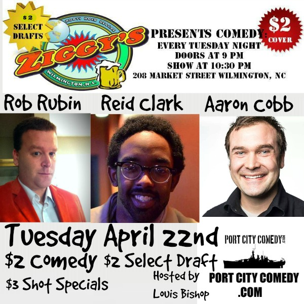 Rob Rubin, Reid Clark and Arron Cobb @ Ziggy's by the Sea | Wilmington | North Carolina | United States
