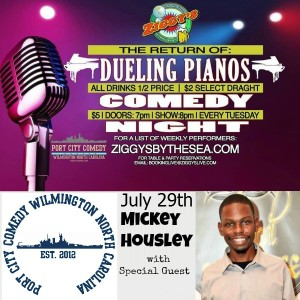 Dueling Pianos & Comedy w/ Mickey Housely @ Ziggy's by the Sea | Wilmington | North Carolina | United States