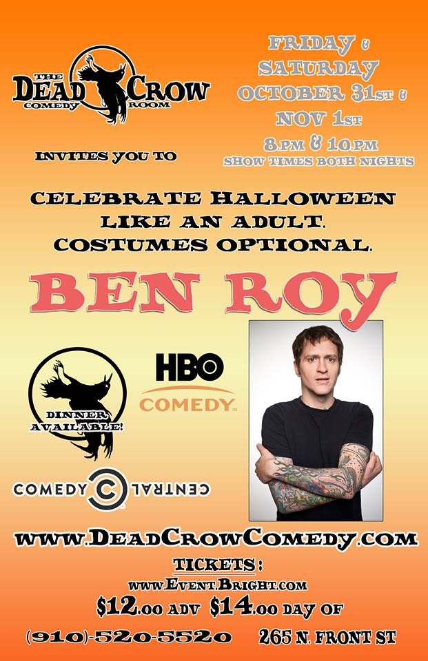 Ben Roy @ Dead Crow Comedy Room | Wilmington | North Carolina | United States